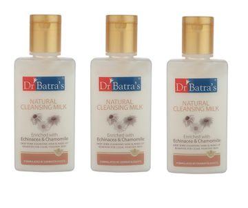 Dr Batra's | Dr Batra's Natural Cleansing Milk (100 ml)- Pack of 3
