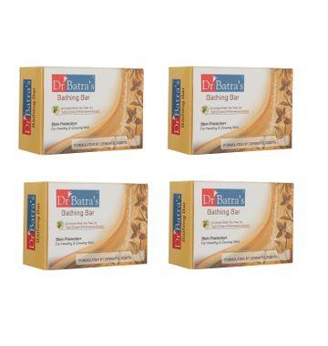 Dr Batra's   Dr Batra's Skin Protection Bathing Bar - 125 gm (Pack of 4 For Men and Women)