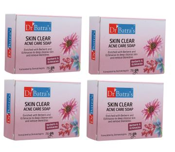 Dr Batra's | Dr Batra's Skin Clear Acne Care Soap (Pack of 4 For Men and Women)