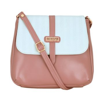 ESBEDA | ESBEDA Peach Color Two Contrasting Colors Sling Bag For Women