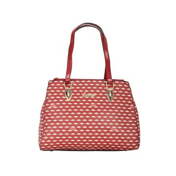 ESBEDA | ESBEDA Red Color Logo Printed Handbag For Women