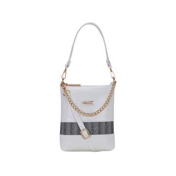 ESBEDA | ESBEDA White Color Lace Glitter Slingbag For Women