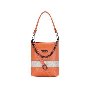 ESBEDA | ESBEDA Orange Color Lace Glitter Slingbag For Women