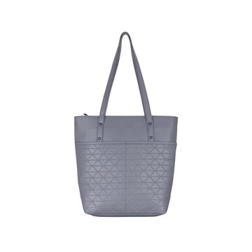 ESBEDA | ESBEDA Grey Color Vinyl Handbag With Sling Bag For Women