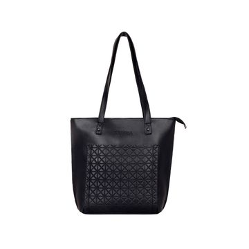ESBEDA | ESBEDA Black Color Vinyl Handbag With Sling Bag For Women