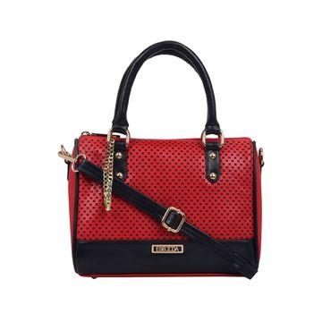 ESBEDA | ESBEDA Red Color Twill Hand Bag For Women