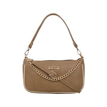 ESBEDA | ESBEDA Camel Brown Color Twill Sling Bag For Women
