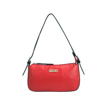 ESBEDA | ESBEDA Red And Black Color Drymilk Handbag For Women