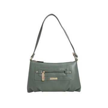 ESBEDA | ESBEDA Olive-Green Color Baize Handbag For Women
