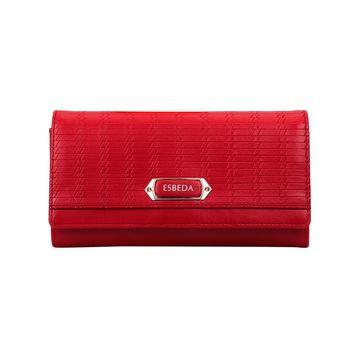ESBEDA | ESBEDA Red Color Twill Wallet For Women