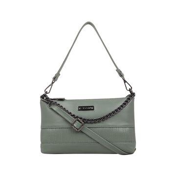 ESBEDA | ESBEDA Turquoise Green Color Twill Sling Bag For Women