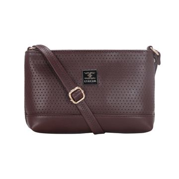 ESBEDA | ESBEDA Brow Color Twill Slingbag  For Women