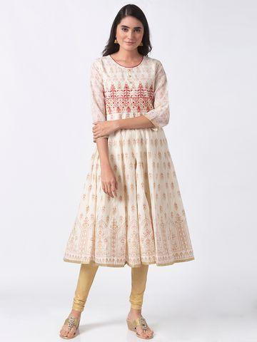 Ethnicity | Ethnicity Off White Chanderi Women Kurta