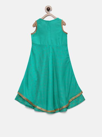 Ethnicity | Ethnicity Teal Polyester Blend Girls Dress