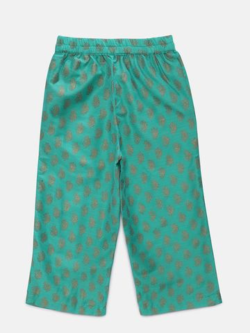 Ethnicity | Ethnicity Green Polyester Blend Kids Girls Skd