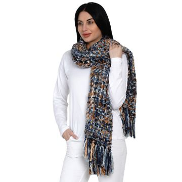 Fabnest | Fabnest Women Brown Acrylic Winter Scarf