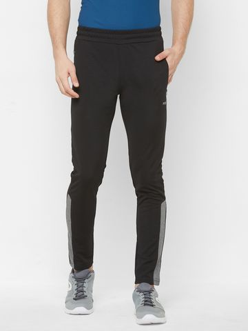 FITZ | Fitz Polyester Black Activewear Trackpant For Mens