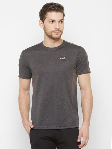 FITZ | Brown Solid Tshirt