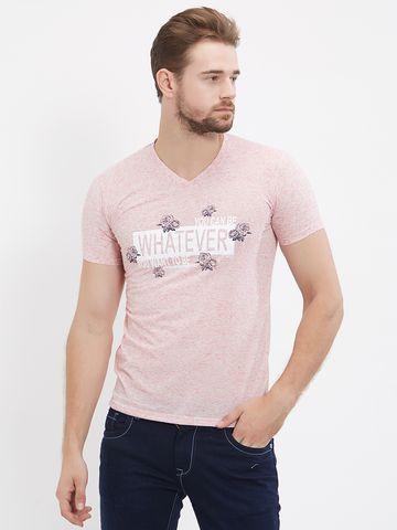 FITZ   Pink Printed Polo Tshirt