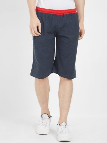 FITZ | Fitz Poly Cotton Blue Bermuda For Mens