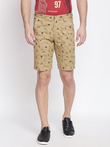 FITZ | Fitz Cotton Blend Brown Shorts For Mens