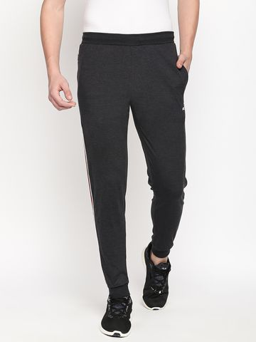 FITZ | Fitz  cotton Grey Loungewear Joggers Track For Mens