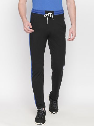 FITZ | Fitz Cotton Blend Black Loungewear Joggers For Mens