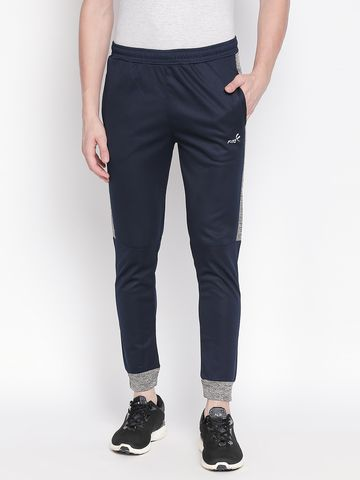 FITZ | Fitz Polyester Navy blue Activewear Joggers Track Pants For Mens.