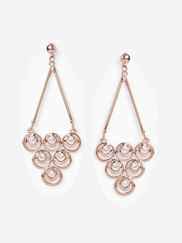 globus | Globus Rose Gold Long Earring