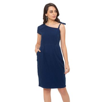 globus | Globus Blue Solid Dress