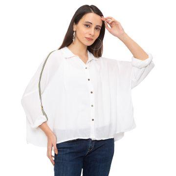 globus | Globus White Solid Shirt