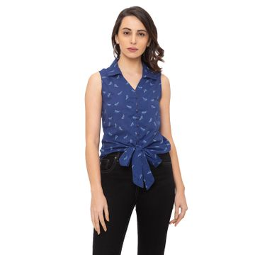 globus | Globus Blue Printed Shirt