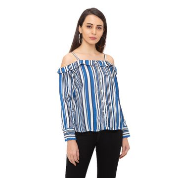 globus | Globus  Blue Striped Shirt