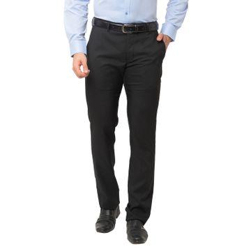 globus   Globus Black Solid Trousers