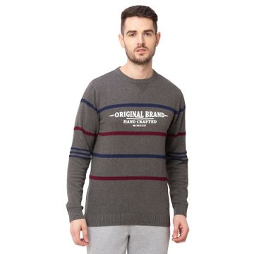globus | Globus Anthra Melange Striped Pullover Sweater