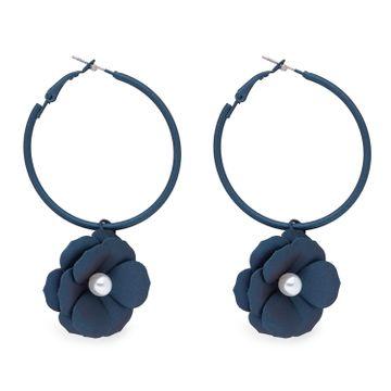 globus   Globus Navy Blue Long Earring