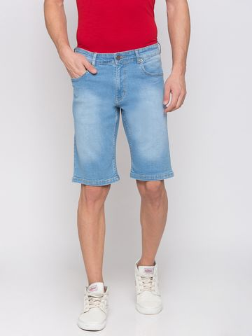 globus   Globus Blue Solid Shorts