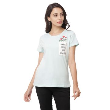 globus | Globus Blue Printed T-Shirt