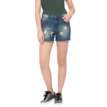 globus | Globus Blue Washed Shorts