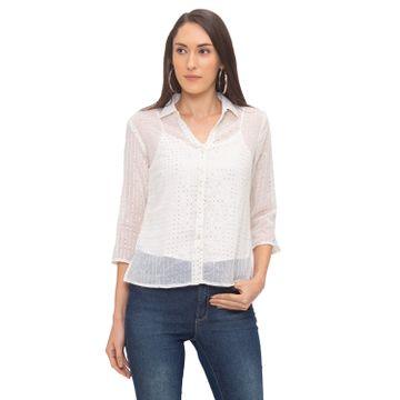 globus | Globus Cream Embellished Shirt