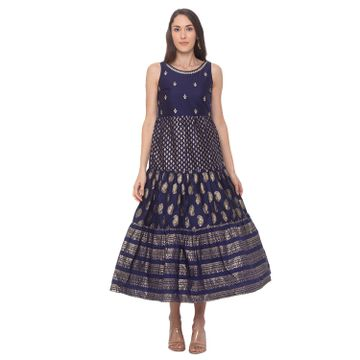 globus | Globus Navy Blue Printed Dress