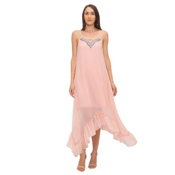 globus | Globus Peach Solid Dress