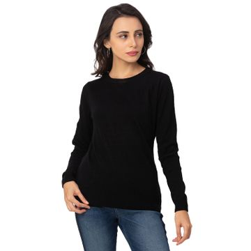 globus | Globus Black Solid Sweater