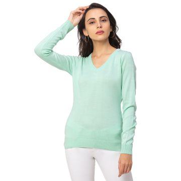globus   Globus Turquoise Solid Sweater