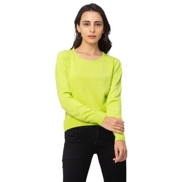 globus | Globus Lime Green Solid Sweater