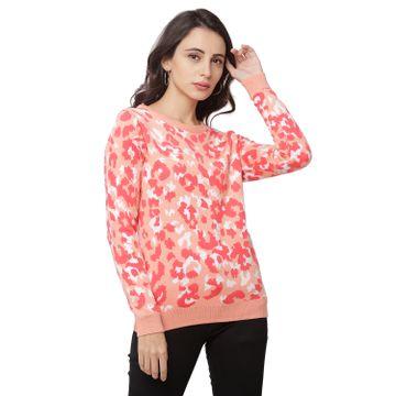 globus | Globus Coral Round Neck Printed Sweatshirt