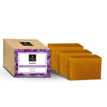 Good Vibes | Good Vibes Saffron Radiance Handmade Soap Bar (Pack of 3) - 100g x 3