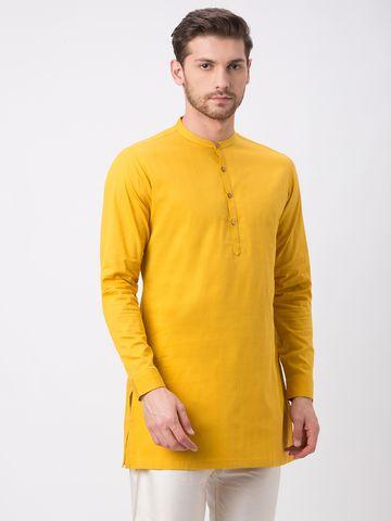 Ethnicity | Ethnicity Mustard Cotton Kurta