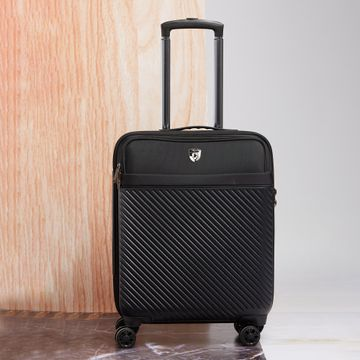 Heys | Heys Unisex Charcoal Polycarbonate Composite / Polyester Fabric Suitcases