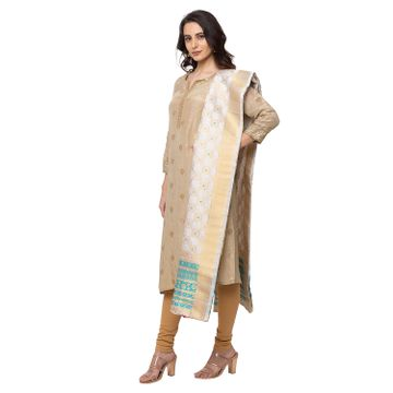 Ethnicity | Ethnicity Brocade Straight Women Turq Dupatta